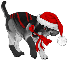 Luckas the christmaspup by CasArtss