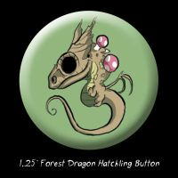 Forest Dragon Hatchling Button by BunnyBennett