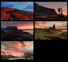 Landscape Sketches by GloriousRyan