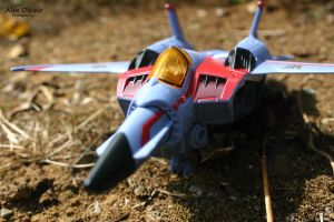Starscream jet mode by Spazzsticks