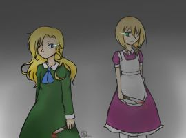 Mary and Viola - Ib and The Witch's House by Hikari-Yamamoto