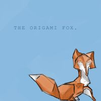 the origami fox by Moonstar-Legand