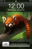 Red Panda iPhone 4 Wallpaper by T-Tiger