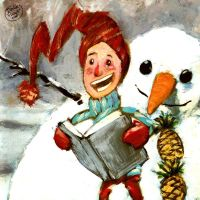 Reading with mr. Snowman by davidepascutti