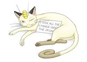 Meowth the Shameless by Birvan