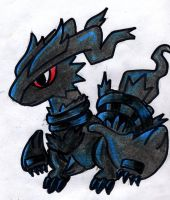 My 5th Best Drawing-Black Reshiram Pokedoll! by chocovanillaberry