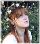 Flowers In Mahogany Hair by Iribel