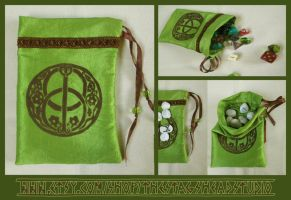 Chalice Well Pouch for Tarot, Dice, Runes etc. by ImogenSmid
