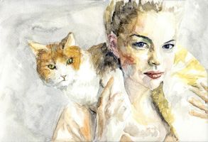 Swedish Girl With Cat by StefanRess
