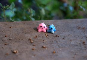 Tiny Octopus Charms by ChloeeeeLynnee97