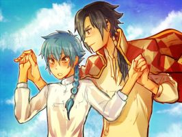 DMMd - Koujaku's Moving Castle by KataChan