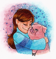 Gravity Falls Mabel And Waddles by Nara-chann