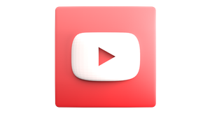 3D YouTube icon created in Blender by MonsterMeng95