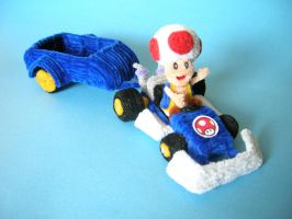 Pipe Cleaner Toad _Mario Kart by fuzzymutt