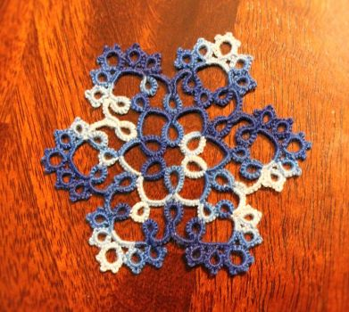 Tatted Snowflake by Erzsabet