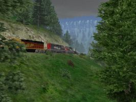 Don't let a trailer fall off down the hill! by railwayboy13