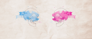 Watercolor skulls by Flink-Design