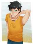 Annabeth, wanna hang out? by ApeChan