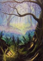 ACEO Secret Of The Ferns by annieoakley64