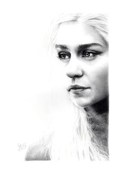 Emilia Clarke (Daenerys - Game of Thrones) by crayon2papier