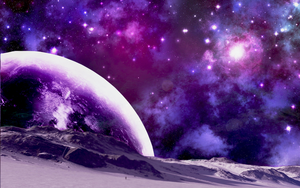 Space and Planet Background by applepopcorn