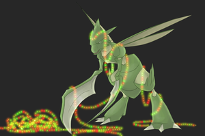 Scyther Lights by SwankyShadow