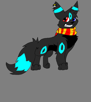 Umbreon Pokemon fursona by Obsidianthewolf