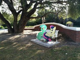 Lyra and BonBon at the Park by ShadyHorseman