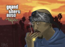 Tupac in GTA IV Artwork by AbdeLo