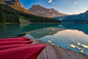 Red Canoe View by James-Wheeler