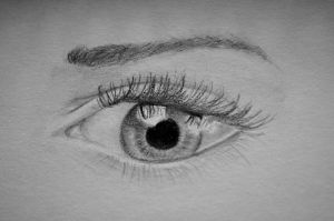 Eye study - Pencil on paper. by 117design