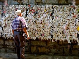 Wall of tissues left by wish makers by jacobjellyroll