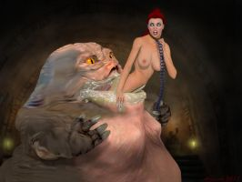 Jabba's Redheaded Meal by GlobtheSpacetoad