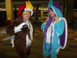 Entei and Suicune by Moogleborg