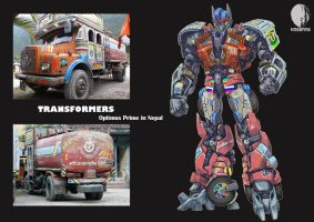 Optimus Prime in Nepal by hosanna9