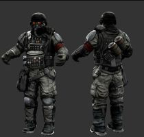 helghast assualt soldier close by tactican