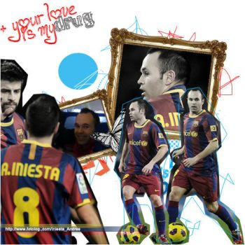 Andres Iniesta by onlmileyrcyrus