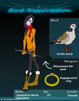 Bird Resurrection Character profile by KwlKitteh