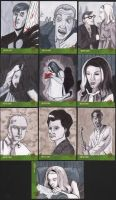 Night of the Living Dead sketch cards by angelacapel