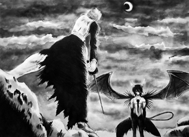 Ichigo vs. Ulquiorra by twillis