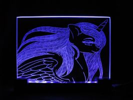 MLP - 'Princess Luna 4' (ENGRAVE + LED) by Ksander-Zen