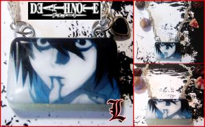 Death Note L Resin Necklace by bapity88