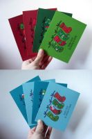 Christmas Stocking Card Sets by dreamycards