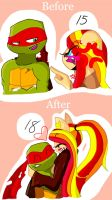 RaphxKC Before and After by KittyCatXernease