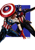 Captains America by Vylla