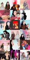 Korra and Asami Sato (Korrasami) Collage by sharllot