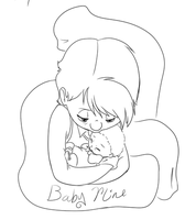 Baby Mine lineart by KicsterAsh