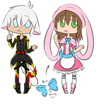 Uniform and Bunny Adopts .:OPEN:. by Wolfie-Bases-Adopts