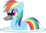 Rainbow Duck by TwitchyTail
