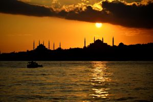 Hagia Sophia and Blue Mosque by vabserk